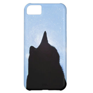 Black Cat in Space iPhone Cover
