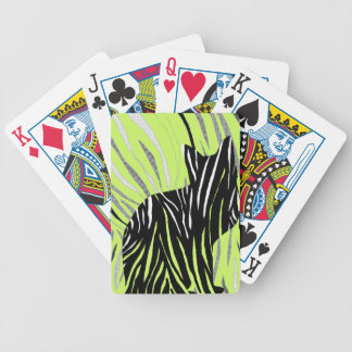 Black Cat in the Grass Bicycle Playing Cards