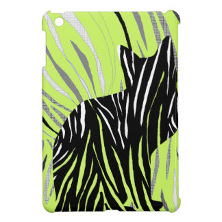 Black Cat in the Grass iPad Mini Cases