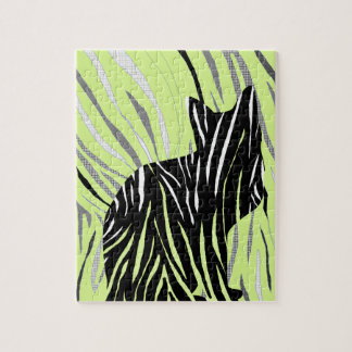 Black Cat in the Grass Jigsaw Puzzle