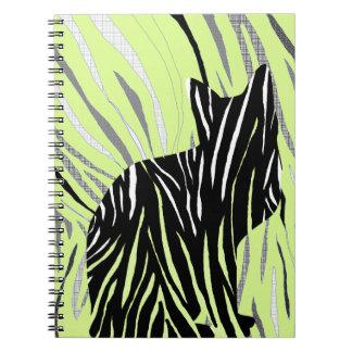 Black Cat in the Grass Notebook