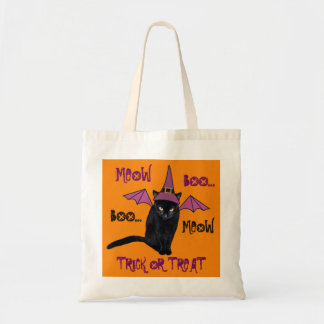 Black Cat in Witch Hat Funny Halloween Bag