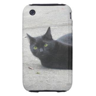 Black  Cat iPhone 3 Tough Cover