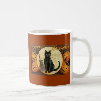black cat & jackolanterns mug
