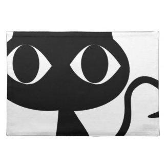BLACK CAT KITTEN PLACEMAT