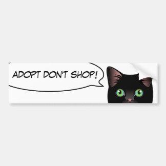 Black Cat Love Adopt a Shelter Cat! Sticker Bumper Sticker