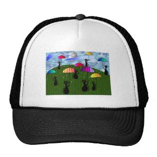 Black Cat Lovers Art Gifts Trucker Hat