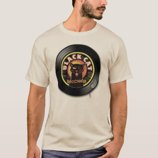 Black Cat LP Art Deco T-Shirt