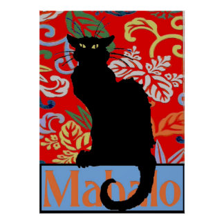 Black Cat, Mahalo, Thanks, Poster