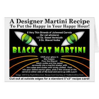Black Cat Martini Recipe Card