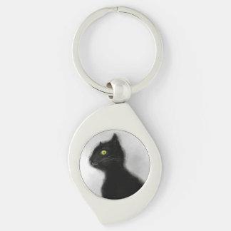 Black Cat Master Metal Key Chain