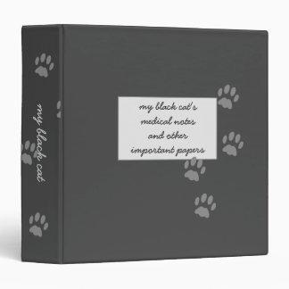 Black Cat Medical Notes Storage Binder