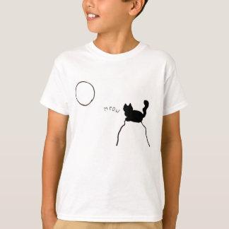 Black Cat Meow T-Shirt