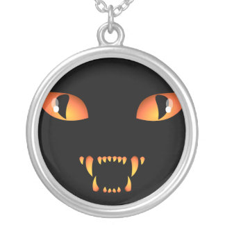 Black Cat Necklace Halloween Cat Jewelry