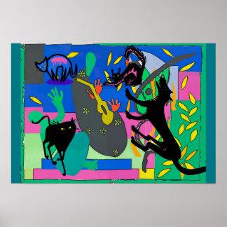 Black Cat Nightmares Poster