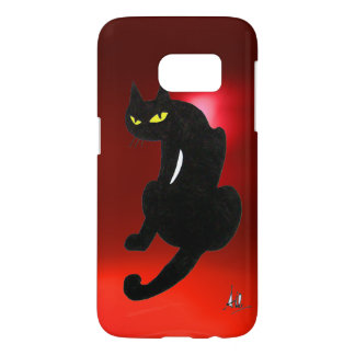 BLACK CAT NINJA Red Ruby Samsung Galaxy S7 Case