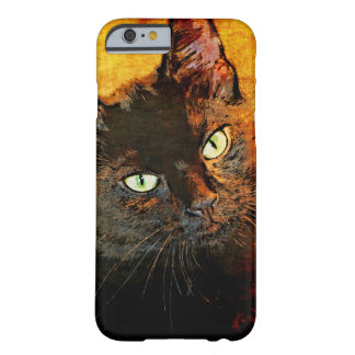 BLACK CAT OLIVE BARELY THERE iPhone 6 CASE