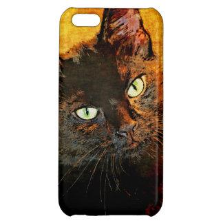 BLACK CAT OLIVE CASE FOR iPhone 5C