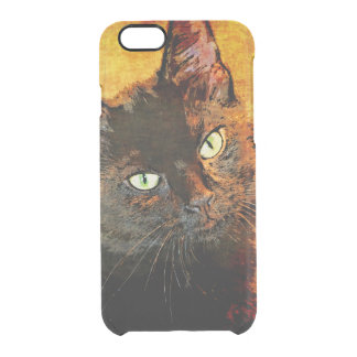BLACK CAT OLIVE CLEAR iPhone 6/6S CASE