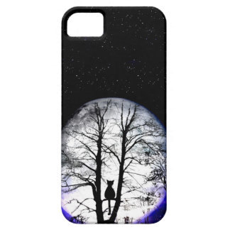 black cat on tree iPhone 5 covers