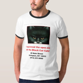 Black Cat Open Mic T-Shirt