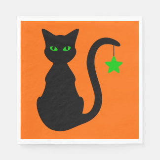 Black Cat Paper Napkins
