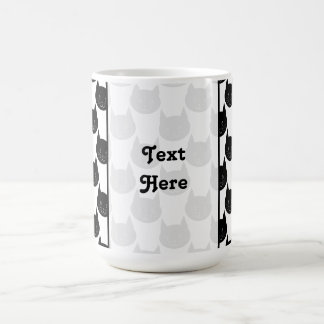 Black Cat Pattern. Coffee Mug