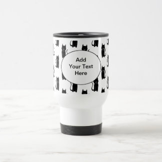Black cat pattern. travel mug