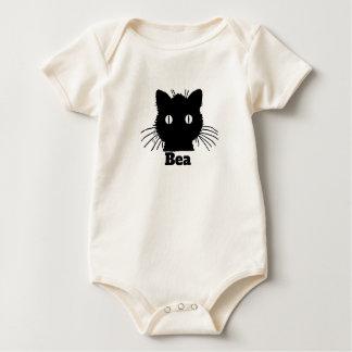 Black Cat Personnalised Baby Bodysuit