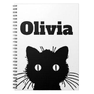 Black Cat Personnalised Notebooks