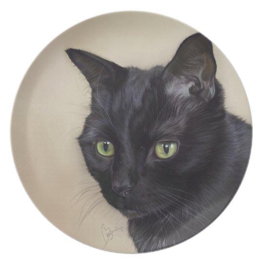 Black Cat Plate