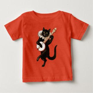 Black Cat Playing Banjo Baby T-Shirt