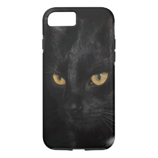 Black Cat Portrait Beautiful Eyes Photography iPhone 7 Case
