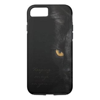 Black Cat Portrait Beautiful Eyes Photography iPhone 8/7 Case