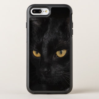 Black Cat Portrait Eyes Night Photography OtterBox Symmetry iPhone 8 Plus/7 Plus Case