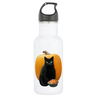Black Cat Pumpkin 532 Ml Water Bottle