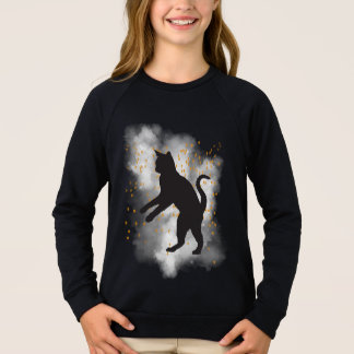 Black Cat Pumpkin Confetti T-Shirt