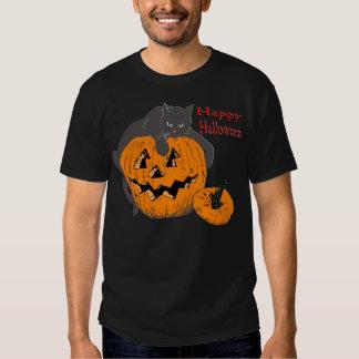 Black Cat Pumpkin T-shirts