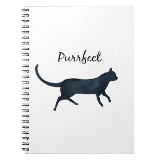 "Black cat ""purrfect"" notebook"
