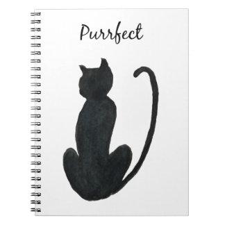 "Black Cat ""purrfect Notebook"