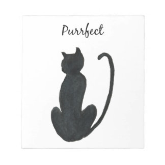 "Black Cat ""purrfect Notepad"
