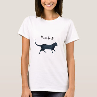 "Black cat ""purrfect"" T-Shirt"
