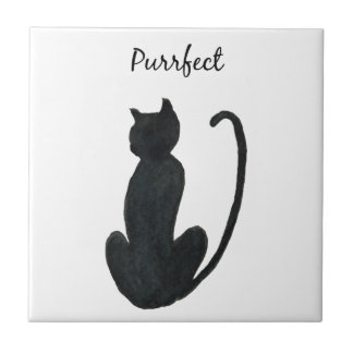 "Black Cat ""purrfect Tile"