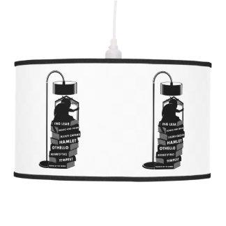 Black Cat Reading Shakespeare Plays Pendant Lamp