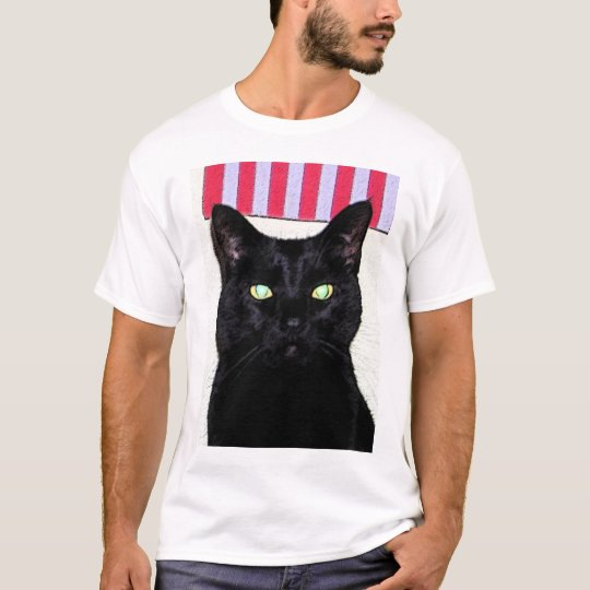 Black Cat / Red White Blue T-Shirt