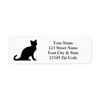 Black cat return address labels