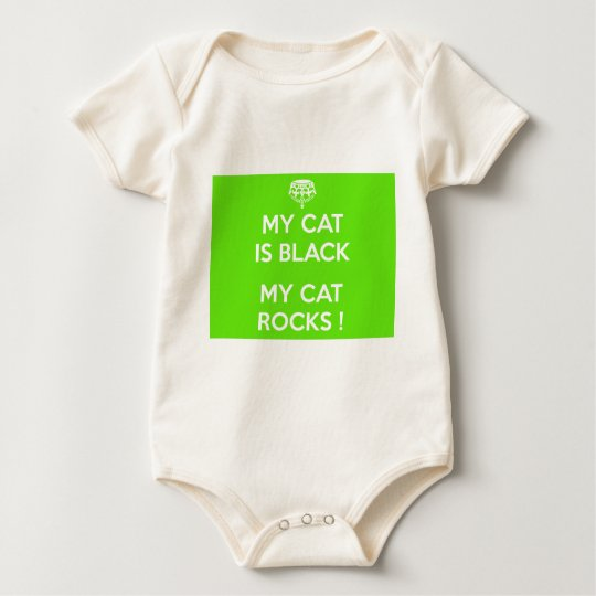 Black cat rocks baby bodysuit