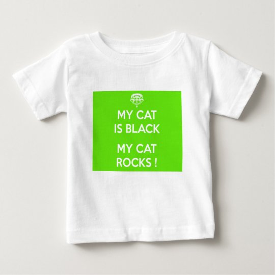 Black cat rocks baby T-Shirt