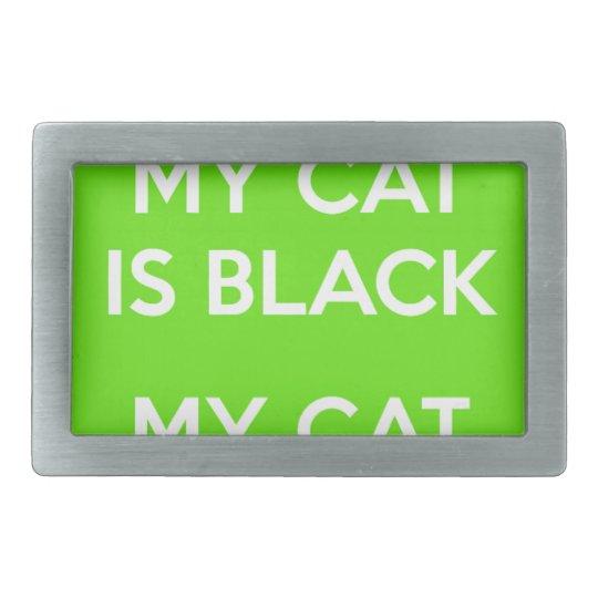Black cat rocks belt buckle