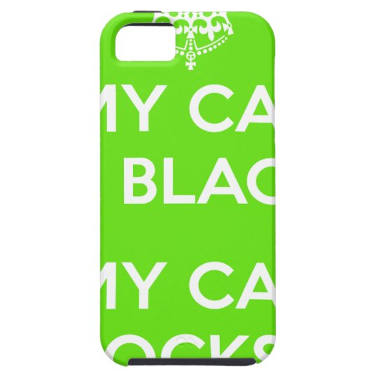 Black cat rocks case for the iPhone 5